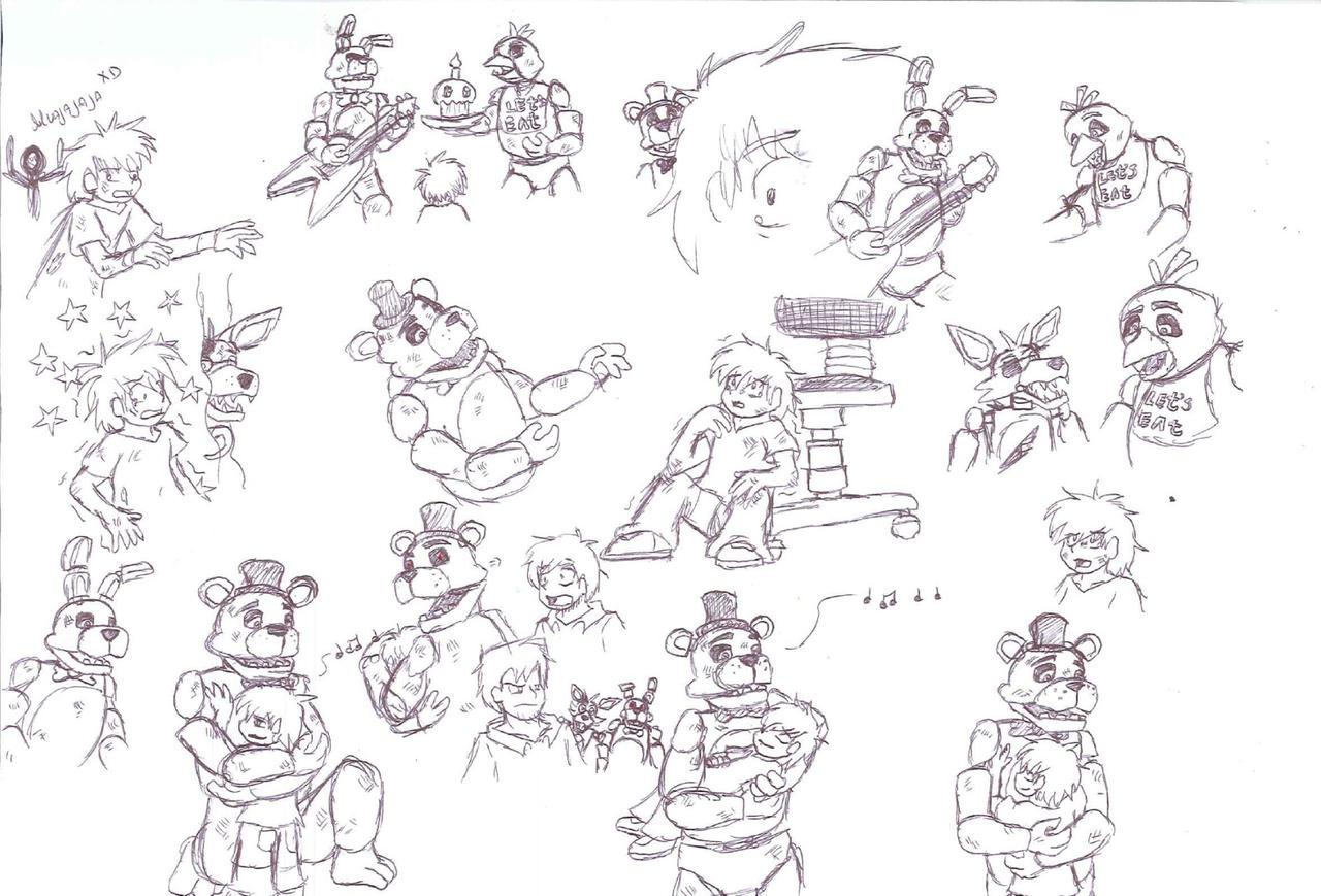 Famoso Fnaf Para Colorear Todos Los Personajes Elaboración - Ideas ...