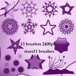 geometric stars brushes