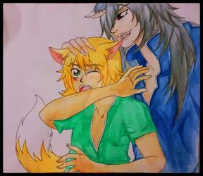 Wolf x Fox human