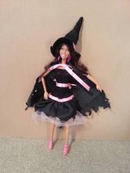 Witch Halloween Costume - fashion doll pattern by merineiti