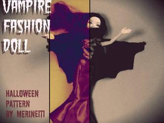 Fashion Doll Vampire Halloween costume pattern by merineiti
