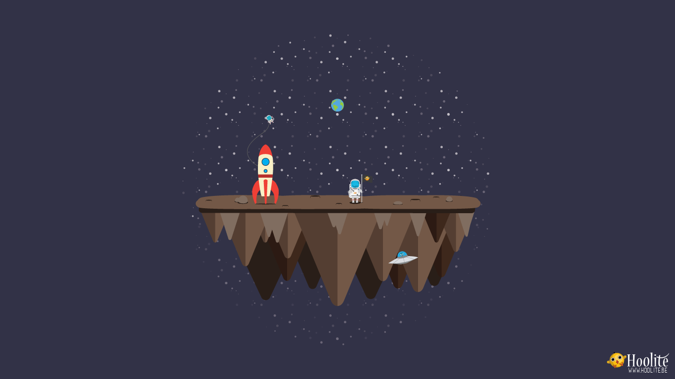 Free wallpaper Vector island: Space adventure by D0wnload