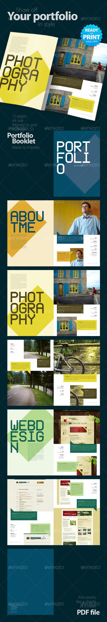 Portfolio Booklet Template by InDesign-Templates on DeviantArt