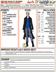 Nameless Musician RP sheet