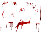 Various blood spatter's