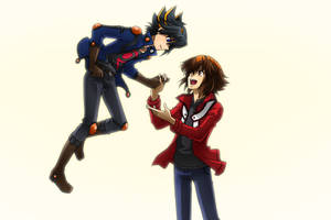 Judai and Yusei by Kuwano73
