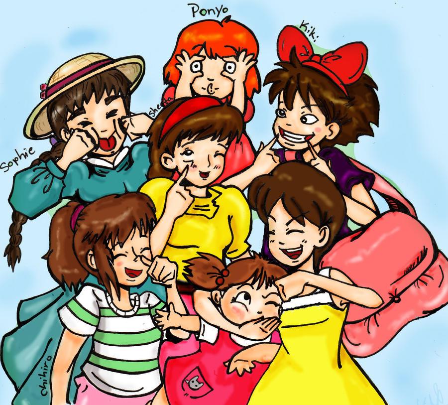 miyazaki girls Hayao miyazaki, director: gake no ue no ponyo hayao miyazaki is one of japan's greatest animation directors the entertaining plots.