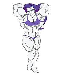 Beautifully Ripped Rarity by Nokozeze