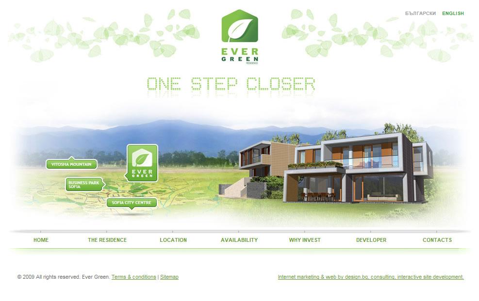 Evergreen Residence Website by design-bg