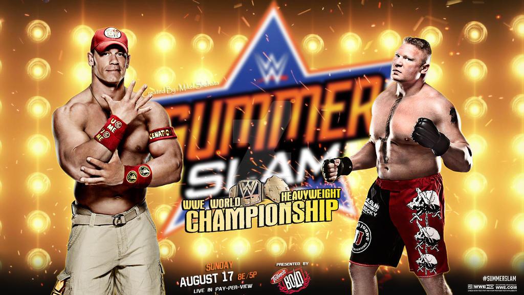 Brock Lesnar vs John Cena at SummerSlam Wallpaper. by ...