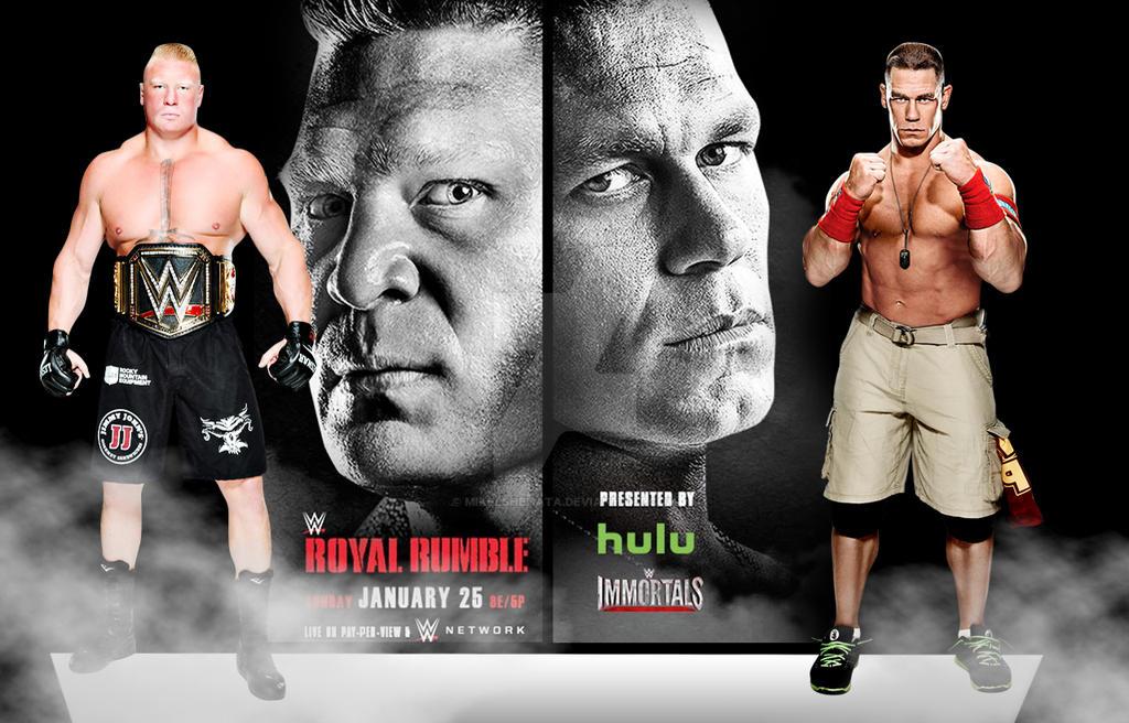 wwe royal rumble 2015 john cena vs brock lesnar by mikelshehata