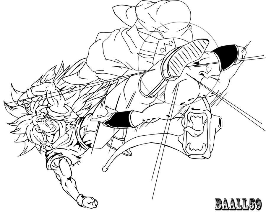 La Fucion Bra Para Colorear De Dragon Gt Dibujos Para Colorear