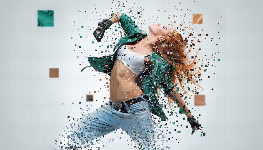 Pixelated effect in Photoshop by yourtutorials on DeviantArt