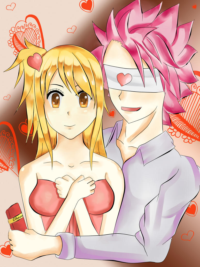 Natsu And Lucy: A Valentine Tag~ by iMeiji