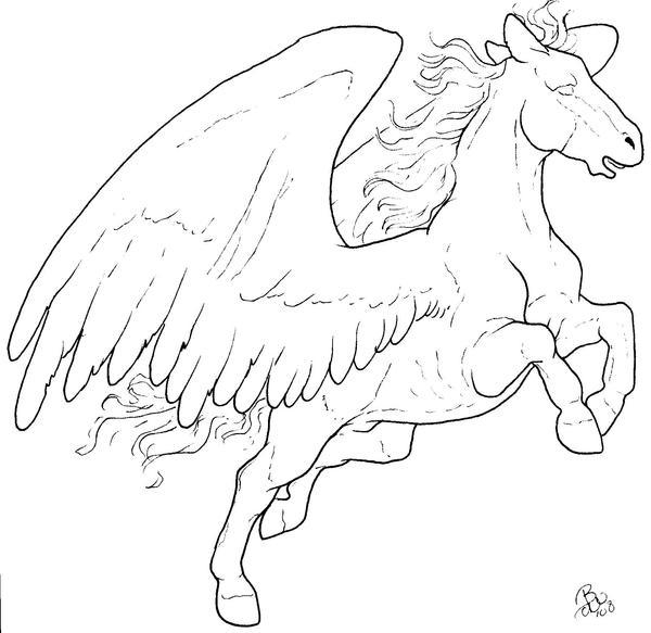 Free Pegasus Lineart by bonbon3272