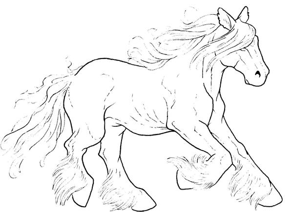 Free Galloping Horse Lineart by bonbon3272