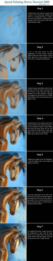 Speed Painting Horse Tutorial