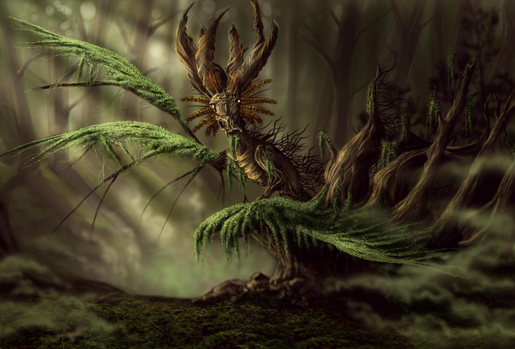 Moss Dragon by bonbon3272