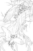 Harpy Tree WIP Sketch by bonbon3272