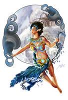 Savannah Swift - Master of Wind WIP by bonbon3272