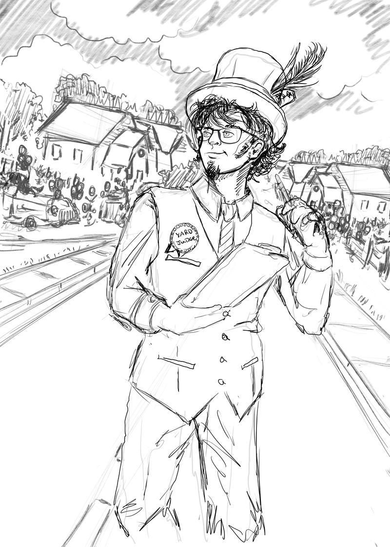 The Yard Judge Sketch by bonbon3272