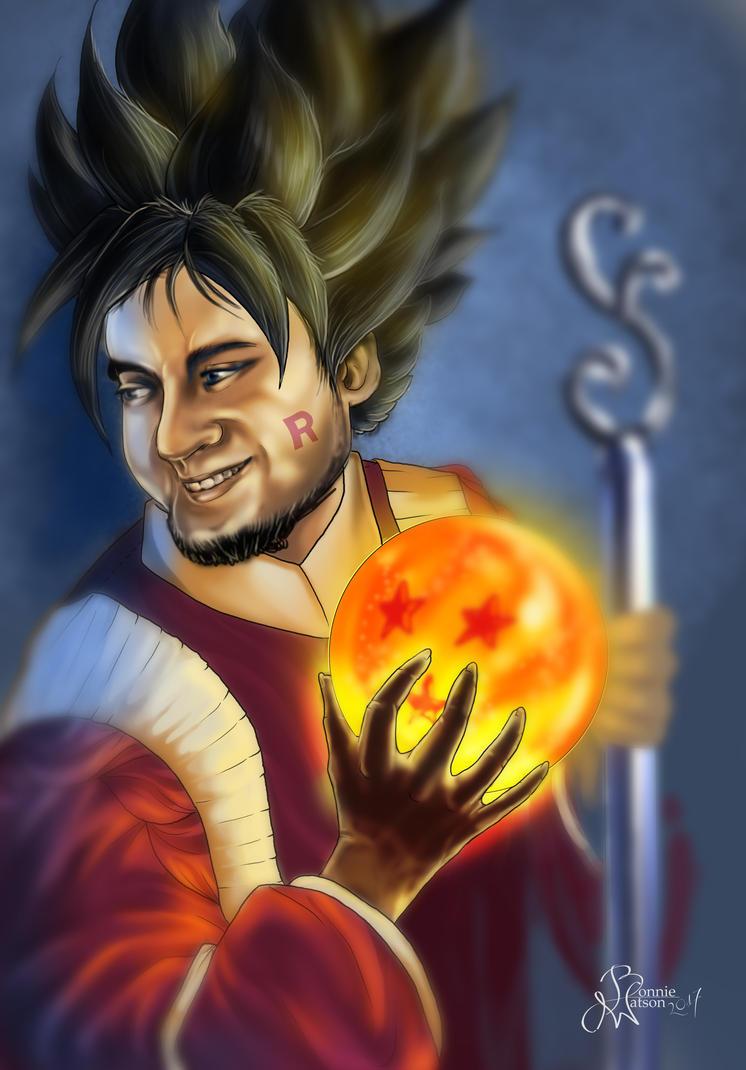 DBZ Twitch Artist Portrait Fan Art by bonbon3272