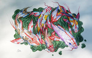 Koi in Watercolor2 by bonbon3272