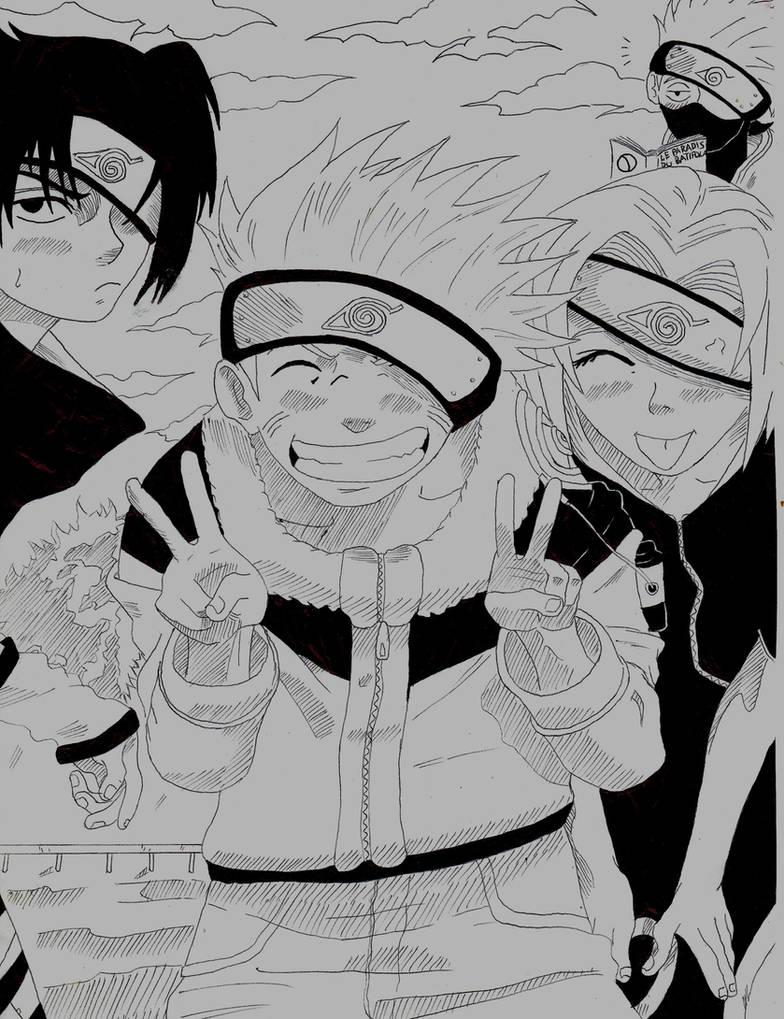 Naruto sasuke sakura kakashi by kiddydarling