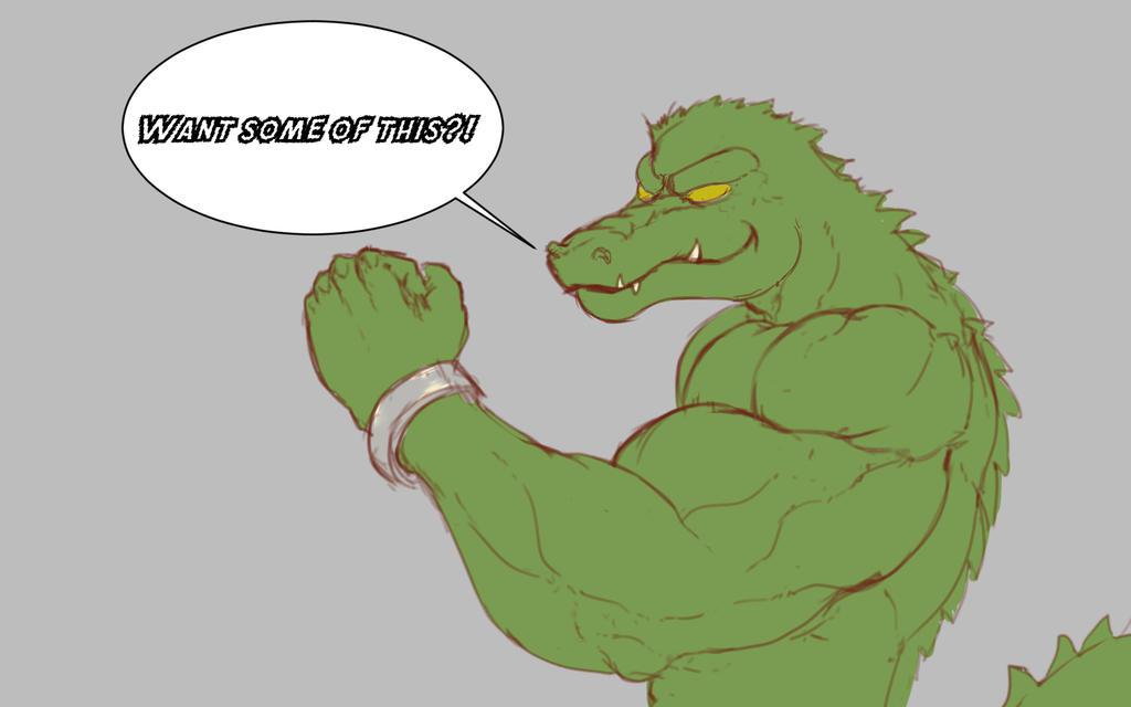 Croc Scrib by werewolf-z