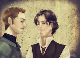 Sherlock Holmes and Doctor John Watson by Maru-ChanX3