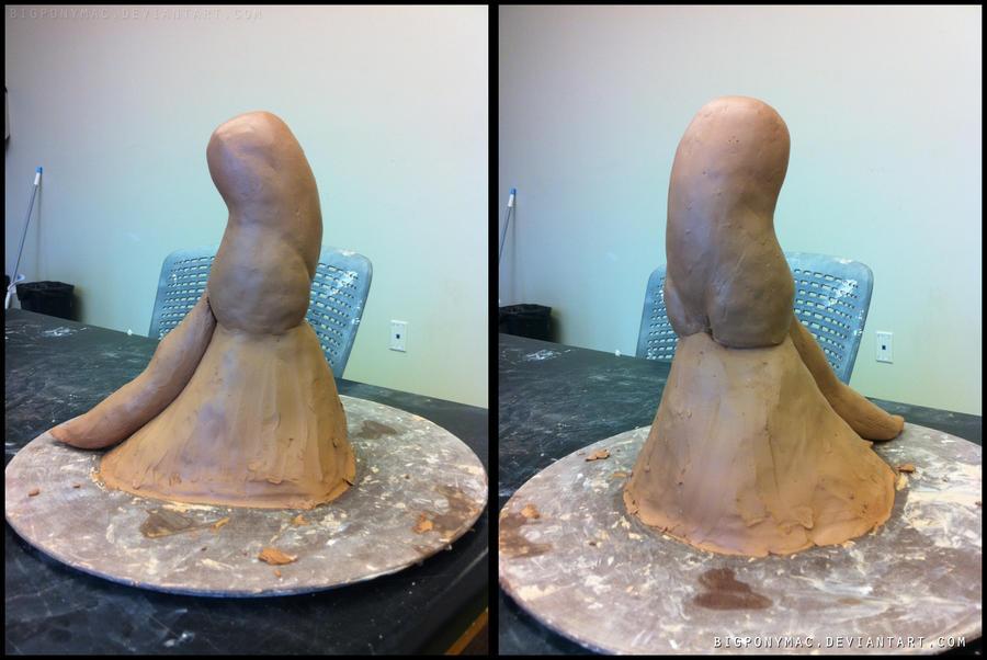 Dash Sculpture Day 1 wip by bigponymac