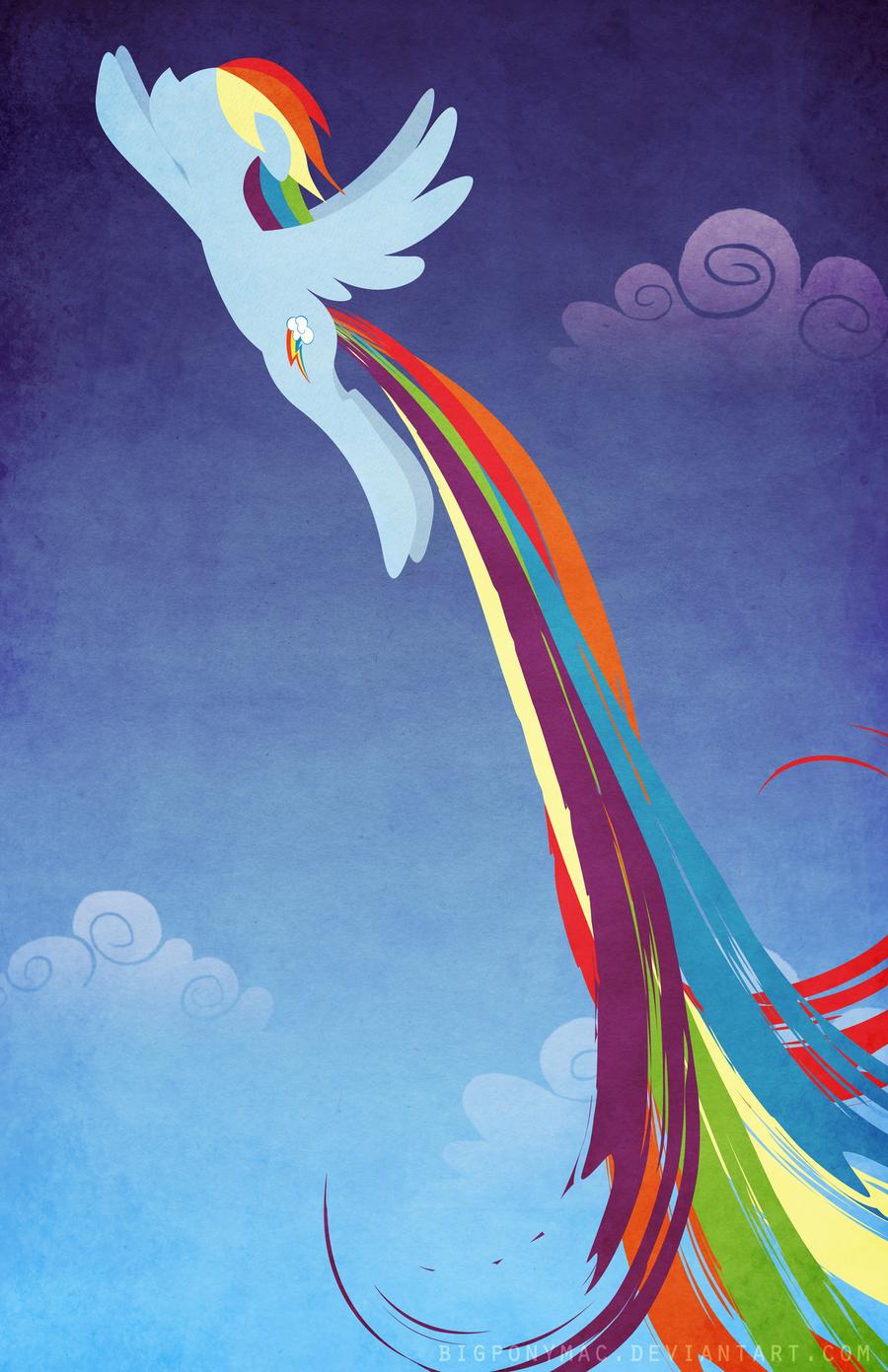 Poster design mac -  Rainbow Dash Poster Design Final No Text By Bigponymac