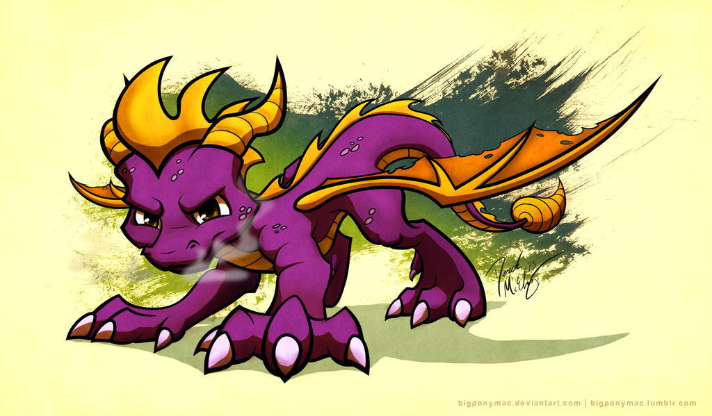 Spyro the Dragon by bigponymac