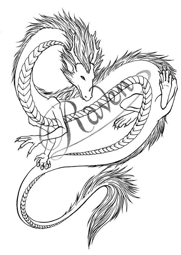 Dragon Tattoo Design by Aussie-Raven