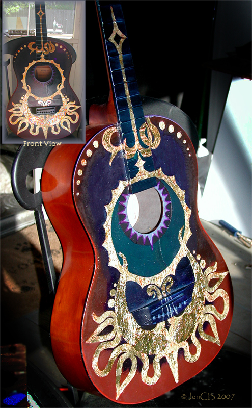 Guilded Guitar by Skyejcb