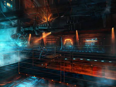Sci - fi hangar