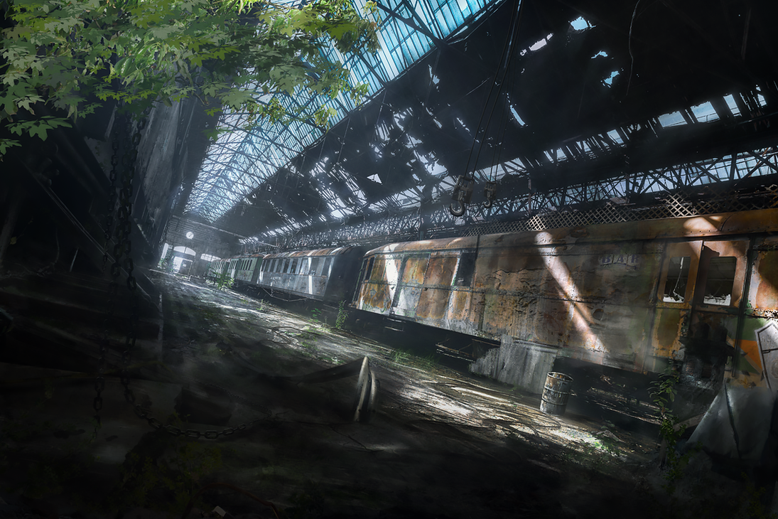 Abandoned train by stgspi