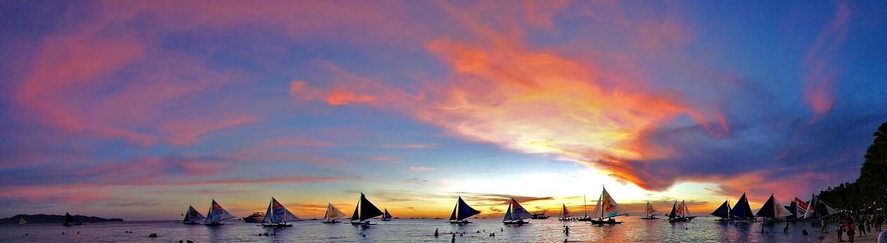 panoramic boracay sunset by poibra on deviantart