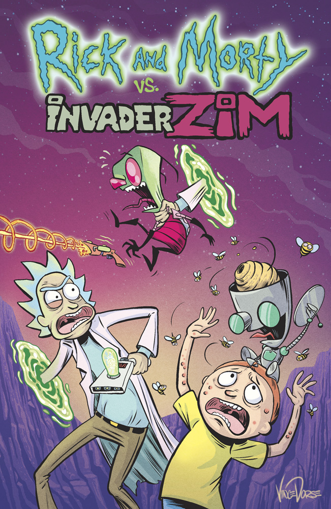 Rick and Morty vs Invade Zim (mock cover) by VinceDorse