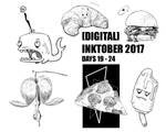 Inktober 2017 Collection: Days 19-24