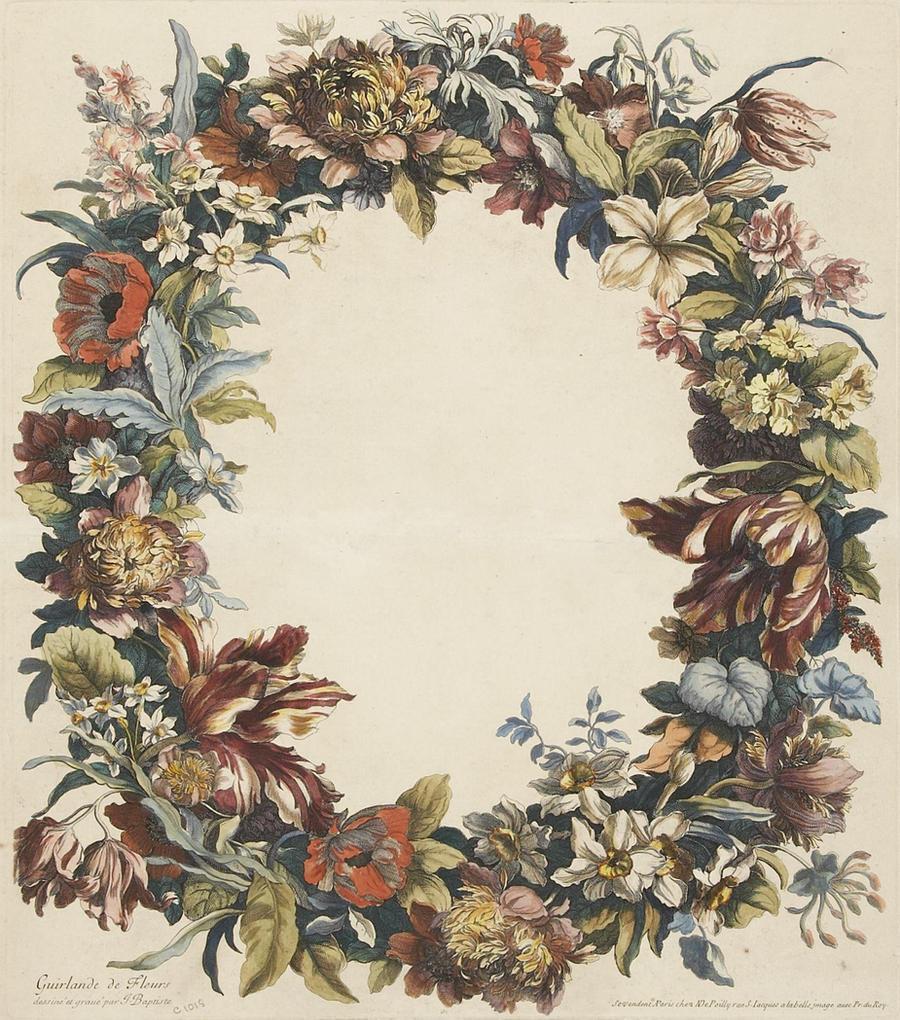 Vintage flower frame by sofi01