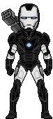 Micro Heroes Movie War Machine by leokearon