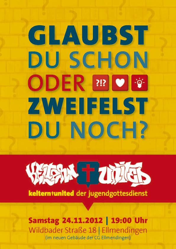 Glaubst du schon oder zweifelst ... - JuGo Flyer by Philipp-JC
