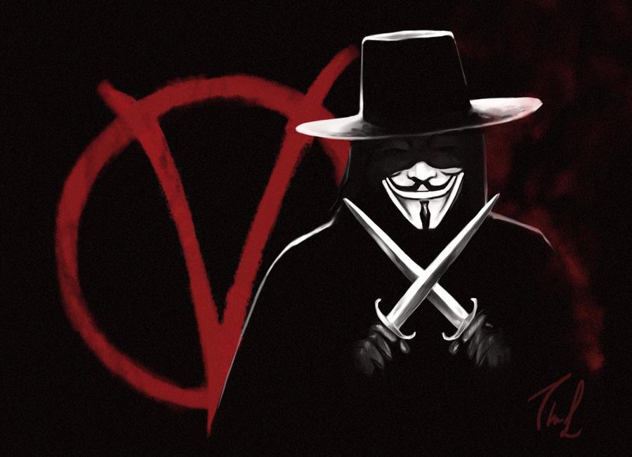 V For Vendetta Painting V for Vendetta by Thubakabra