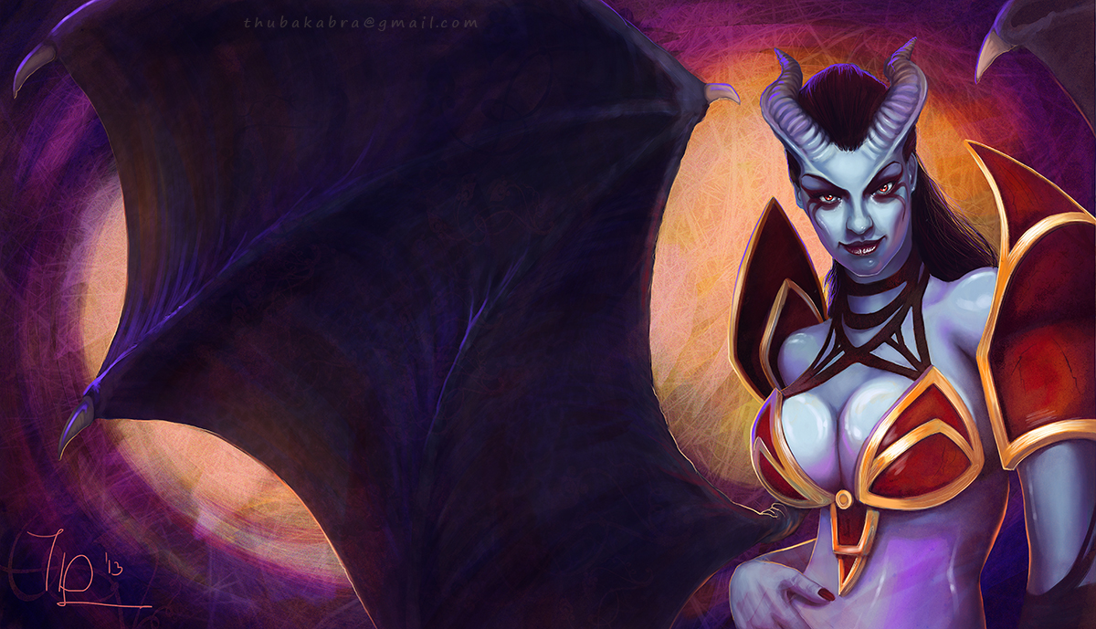 Queen Of Pain Dota2 By Thubakabra On Deviantart