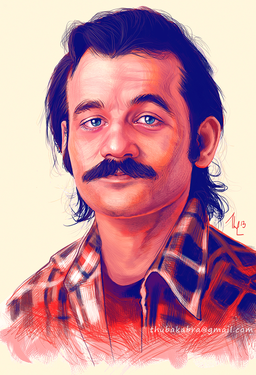 Young Bill Murray Mustache Young Bill Murray by T...