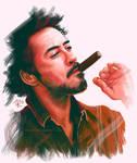 Robert Downey Jr. and cigar
