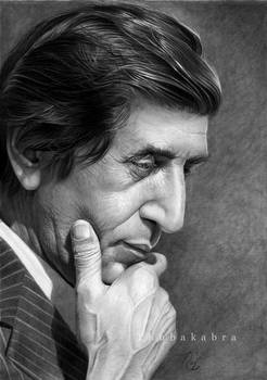 Bahram photorealistic pencil portrait