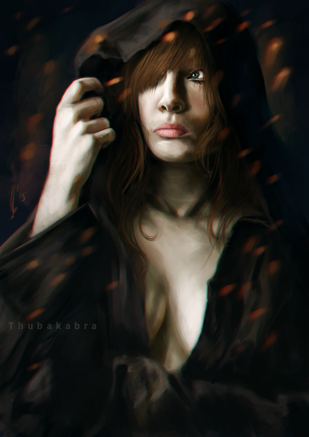 In cape - digital painting by Thubakabra