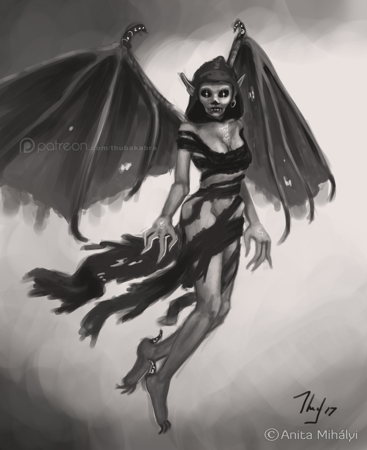 The Demon Figure Sketch by Thubakabra